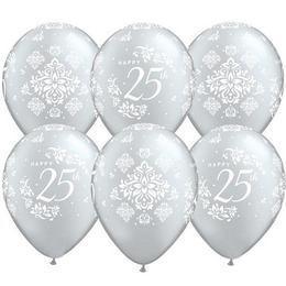 11 inch-es 25th Anniversary Damask Lufi (25 db/csomag)