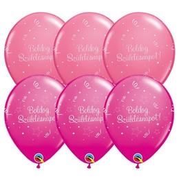 11 inch-es Boldog Születésnapot Shining Star III Lufi Lányos Színekben (25 db/csomag)