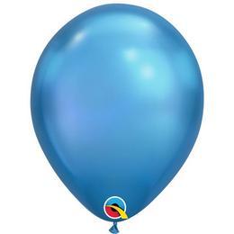 11 inch-es Chrome Blue - Kék Kerek Lufi (6 db/csomag)