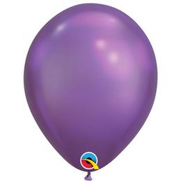 11 inch-es Chrome Purple - Lila Kerek Lufi (6 db/csomag)