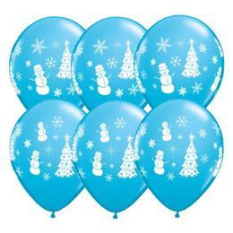 11 inch-es Festive Winter Scene Assorted - Hóember és Karácsonyfa Mintázatú Karácsony