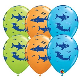 11 inch-es Fun Sharks! Special Assortment Lufi (6 db/csomag)