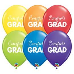 11 inch-es Simply Congrats Grad Carnival Assortment Lufi Ballagásra (25 db/csomag)