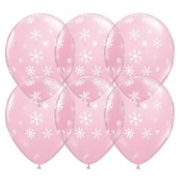 11 inch-es Hópelyhek - Snowflakes & Sparkles-A-Round Lufi (50 db/csomag)