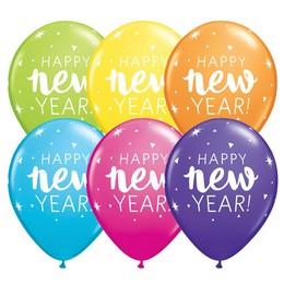 11 inch-es New Year Sparkle Confetti Tropical Assortment Lufi Szilveszterre (25 db/cs