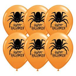 11 inch-es Pók Mintás - Halloween Spider Lufi (25 db/csomag)