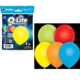 11 inch-es Q-lite LED Special Assortment Világító Lufi (5 db/csomag)