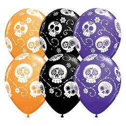 11 inch-es Sugar Skull Special Assortment Lufi Halloween-re (25 db/csomag)