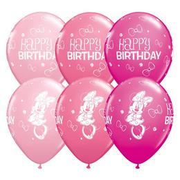 11 inch-es Minnie Mouse Birthday Spec. Asst. Szülinapi Lufi (25 db/csomag)