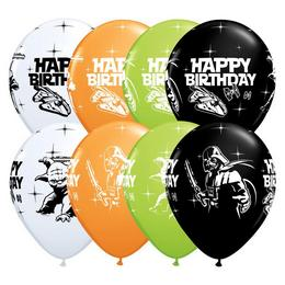 11 inch-es Star Wars Birthday Spec. Asst. Szülinapi Lufi (25 db/csomag)