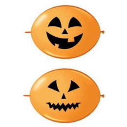 12 inch-es Jack Faces Orange - Tök Fejes Quick Link (Fashion) Lufi Halloween-re (50 d