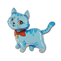 14 inch-es Blue Cat - Kék Cica Fólia Lufi