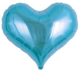 Ibrex 14 inch-es Jelly Metallic Light Blue Szív Fólia Lufi (5 db/csomag)