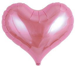 Ibrex 14 inch-es Jelly Metallic Pink Szív Fólia Lufi (5 db/csomag)
