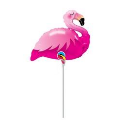 14 inch-es Pink Flamingó - Mini Pink Flamingo Fólia Lufi (5 db/csomag)