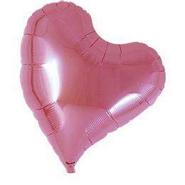 Ibrex 14 inch-es Sweet Metallic Pink Szív Fólia Lufi (5 db/csomag)