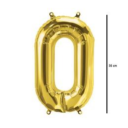 16 inch-es Number 0 - Arany 0-ás Alakú Szám Fólia Lufi