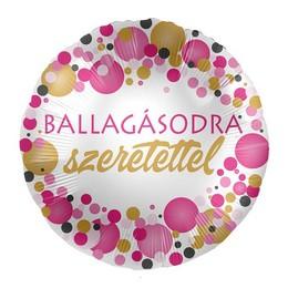 17 inch-es Ballagásodra Szeretettel Rózsaszín Pasztell Konfettis Parti Fólia Lufi