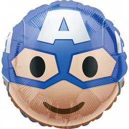 17 inch-es Captain America - Amerika Kapitány Emoticon Fólia Lufi