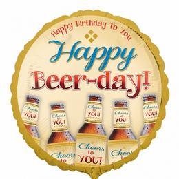17 inch-es Happy Beer-Day - Sörös Szülinapi Fólia Lufi