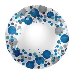 17 inch-es Kék Pasztell Konfettis Feliratozható Fólia Lufi