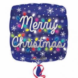 17 inch-es Merry Christmas Lights Karácsonyi Fólia Lufi