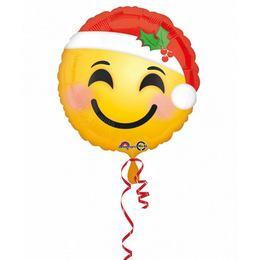 17 inch-es Santa Hat Emoji Karácsonyi Fólia Lufi