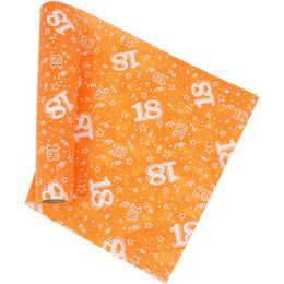 18-as Narancssárga Szülinapi Asztali Futó (37 cm x 5 m)