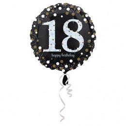 18 inch-es 18-as Happy Birthday Sparkling Születésnapi Fólia Lufi