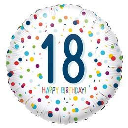 18 inch-es 18-as Konfetti Mintás - Confetti Birthday 18 Fólia Lufi