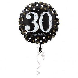 18 inch-es 30-as Happy Birthday Sparkling Születésnapi Fólia Lufi