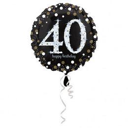 18 inch-es 40-es Happy Birthday Sparkling Születésnapi Fólia Lufi