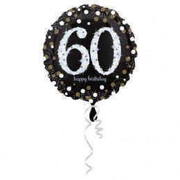 18 inch-es 60-as Happy Birthday Sparkling Születésnapi Fólia Lufi