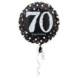 18 inch-es 70-es Happy Birthday Sparkling Születésnapi Fólia Lufi