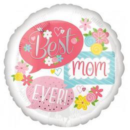 18 inch-es Best Mom Ever Bubbles Fólia Lufi