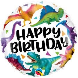 18 inch-es Birthday Colorful Dinosaurs Szülinapi Fólia Lufi