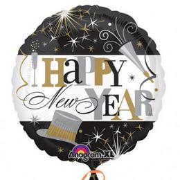 18 inch-es Happy New Year Elegant Celebration Fólia Lufi Szilveszterre