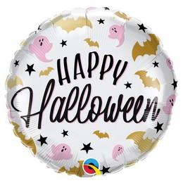 18 inch-es Denevér és Szellem Mintás - Halloween Glam Bats & Ghosts Fólia Lufi