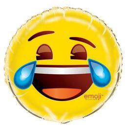 18 inch-es Emoji Sírva Nevetős Fólia Lufi