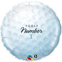 18 inch-es Golf Labda - Golf Ball Number 1 Fólia Lufi