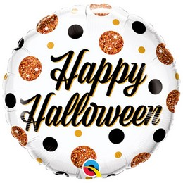 18 inch-es Halloween Sparkly Dots Halloween Fólia Lufi