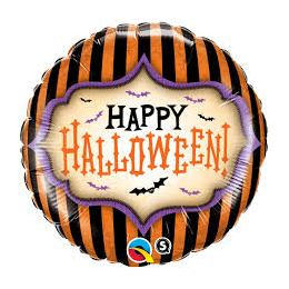 18 inch-es Halloween Stripes Fólia Lufi Halloweenre