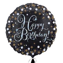 18 inch-es Happy Birthday Sparkling Születésnapi Fólia Lufi