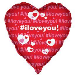18 inch-es #iloveyou Szerelmes Fólia Lufi
