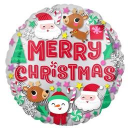 18 inch-es Karácsonyi Figurák - Christmas Buddies Fólia Lufi