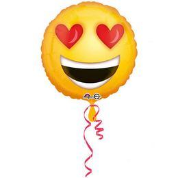 18 inch-es Love Emoticon Szerelmes Fólia Lufi