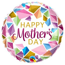 18 inch-es Mother's Day Colorful Gems Anyák Napi Fólia Lufi