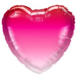 18 inch-es Pink Ombre Szív Fólia Lufi Valentin-napra