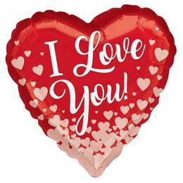 18 inch-es Rose Gold Hearts Szív Fólia Lufi