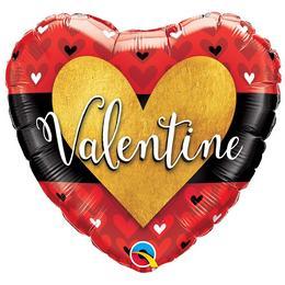 18 inch-es Valentine Burnished Heart Gold Szerelmes Szív Fólia Lufi